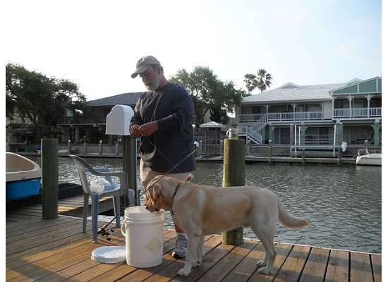 Dr. Keadle and Henry Fishing | Animal Hospital NW Houston